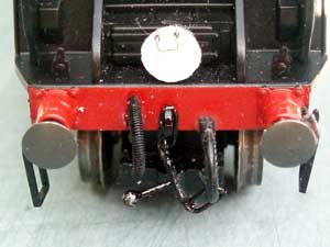 screw link coupling on loco